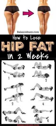 Do you want to reduce hips, buttocks and thighs fast in 2 weeks? Then, discover here 7 best exercise to lose hip fat fast at home. Fitness Workouts, Hip Workout, At Home Workouts, Workout Routines, Exercise Schedule, Workout Exercises, Dumbbell Workout, Exercise At Home, Side Fat Workout