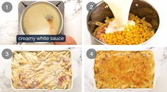 Here's creamy sauce to make a golden, bubbling creamy pasta bake using anything you have! Raw or cooked meat, canned tuna, any fresh, frozen or canned veg. Frozen Spinach, Frozen Peas, How To Cook Pasta, How To Cook Chicken, Vegetable Pasta Bake, Creamy Pasta Bake, Pork Mince, Recipetin Eats, Parmesan Pasta