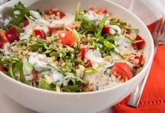 Ha unod a rizst. Vegetable Recipes, Meat Recipes, Vegetarian Recipes, Healthy Recipes, Tzatziki, Vinaigrette, Bulgur Salad, Salad Dishes, Valeur Nutritive