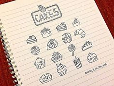 """doodles_cakes #cake #icon #bulletjournal #stationary #stationaryaddict #handlettering"