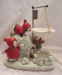 Yankee Candle Christmas Penguins Igloo Tart Warmer Burmer Snowballs Wax Melts #YankeeCandle