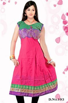 Elegant personality with new SIXMETER Pink #Casual Wear #Anarkali Style #Kurti for lovely lady.