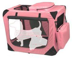 Valentina Valentti Cat Dog Puppy Pet Canvas Carrier Transport Soft Crate s Pink   eBay