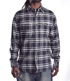 Ecko Unltd. Men's Embroidered LS Flannel Button Up Shirt