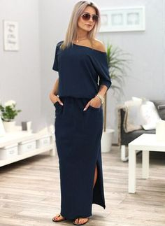 best=Women Summer Boho Long Maxi Dress Evening Cocktail Party Beach Dres Fest We Maxi Dress With Sleeves, The Dress, Hoodie Dress, Off Shoulder Long Dress, Bohemia Dress, Vetement Fashion, Look Boho, Boho Style, Casual Dresses