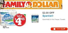 Family Dollar, Sparkle Paper Towel Deal, TODAY ONLY! Just Pay $1.45! Great Classroom Donation Item ~ on CouponCrazyFreebieFanatic.com