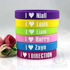 Rubber Wristband BY PYRAMID *NEW* One Direction Band Photo Silicon