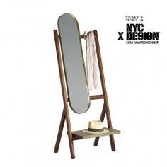 Poltrona Frau Ren Free-standing Mirror and Coat Rack