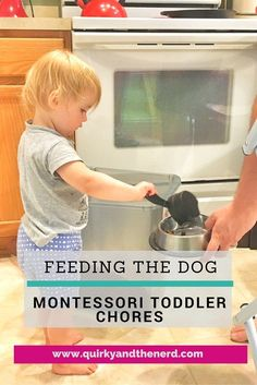 Yes, I give my toddler chores. Or at least I have her help us with the household jobs. Here is how my toddler helps us feed the dog. http://quirkyandthenerd.com