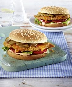 Unser beliebtes Rezept für Schnitzel-Burger und mehr als 55.000 weitere kostenlose Rezepte auf LECKER.de.