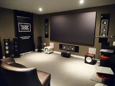Home Theater - Monitor Audio Platinum spk, Wolf Cinema projector, Black Diamond screen, Cary Audio amp.