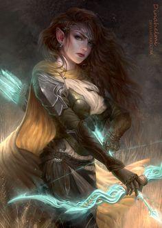 Elf Ranger Girl - Commission Ellira Naganas by DenaHelmi.deviantart.com on @DeviantArt