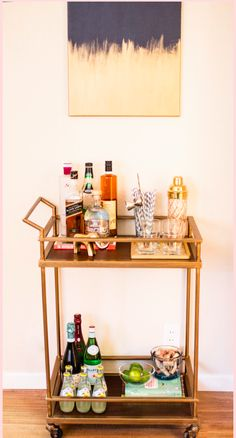 Glamorous and sophisticated. @mspaulding5 transforms our Threshold Bar Cart into a chic cocktail serving station. Let the festivities begin!