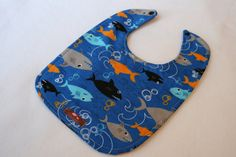 Baby Bib  Sharks 10 x 12.5 by Essiedesigns on Etsy, $7.00