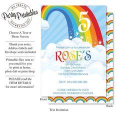 Rainbow Party Invita