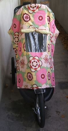Stroller covers can be expensive! So… I decided to make my own. I think mine is cuter too:) I love the little window that can be open or shut and that it works on my jogging stroller and my regular stroller. Perfect! Now we can enjoy a nice jog or stroll even though the weather …