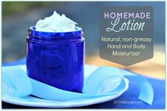 Homemade Lotion - A Natural Hand and Body Moisturizer Recipe : This homemade lotion recipe will give you a creamy hand and body moisturizer that repairs dry skin and is all-natural. It's light and fluffy, never greasy!