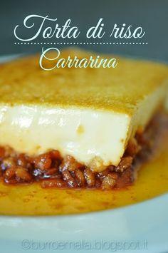 """""""Torta di riso Carrarina"""", la ricetta di Gaia del blog """"Burro e Malla"""" http://burroemalla.blogspot.it/2014/07/torta-di-riso-carrarina.html"""