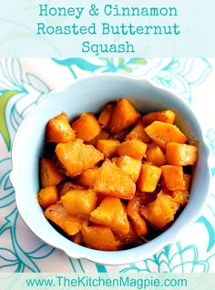 Honey & Cinnamon Roasted Butternut Squash from @kitchenmagpie