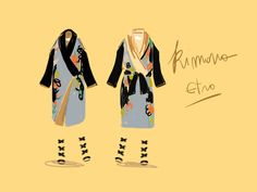 Kimono Etro.  #illustration Open Toe - Opentoeillustration.com