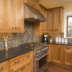 Traditional Alder Kitchen Cabinets Design, Pictures, Remodel, Decor and Ideas - page 2