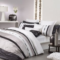 MOSMAN TAUPE By Logan and Mason Super King Size Bed Doona Quilt Cover Set 3pce