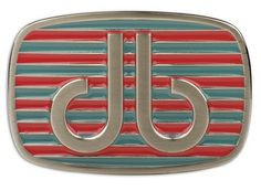 DB Pink and Aqua Stripe Buckle by Druh Belts.  Buy it @ ReadyGolf.com