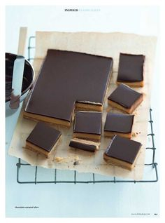 Chocolate Caramel Slices