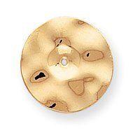 14k Polished Hammered Disc Earrings Jackets - JewelryWeb JewelryWeb. $132.10
