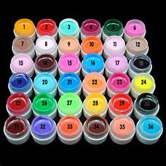 1PC 36 Mix Color Solid Pure UV Builder Gel Acrylic Set for Nail Art Tips Salon