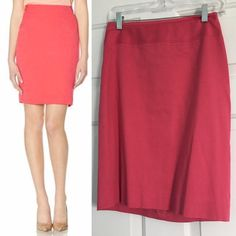 "The Limited Pencil Work Skirt Get through the work week with a happy pop of color! This versatile skirt easily mixes and matches with your favorite blazers to complete your office look. Colorful sateen suiting Invisible back zipper with hook and eye closure Piped sides, inset details Fully lined Length: 22"" 97% Cotton/3% Spandex; Lining: 100% Polyester Machine wash. Tumble dry. Imported Excellent condition The Limited Skirts Pencil"