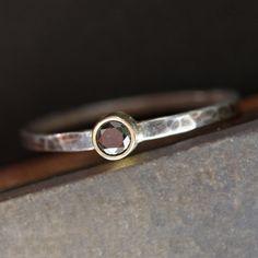 Stacking Ring Black Diamond <3