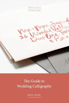 The ultimate guide to DIY wedding calligraphy from Artifact Uprising.