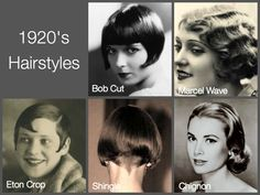 authentic 1920 fashion | The hairdressers retaliated with the 'crop', the ' bob hair cut ...
