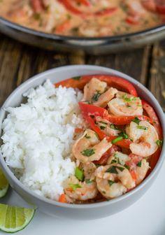 garlic shrimp in coconut lime sauce