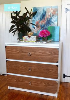 Before and After: A Campaign Style IKEA Malm Hack