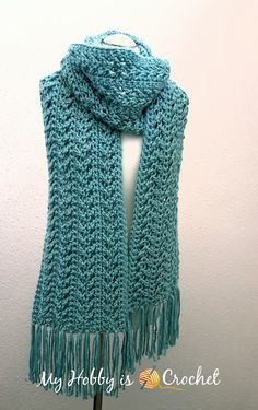 Go with The Flow Super Scarf - Free Crochet Pattern on myhobbyiscrochet.com
