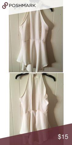 White open back dress. Worn once. In good condition. Tobi Dresses Mini