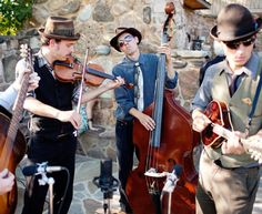 Skip the typical piano player and hire a bluegrass band for the cocktail hour!