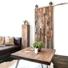 Custom Built Reclaimed Wood Sliding Door by TheWhiteShanty on Etsy