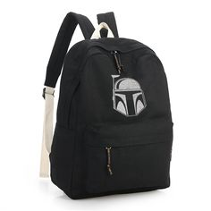 Star Wars BOBA FETT Black Canvas Backpack | gli628 - Bags & Purses on ArtFire