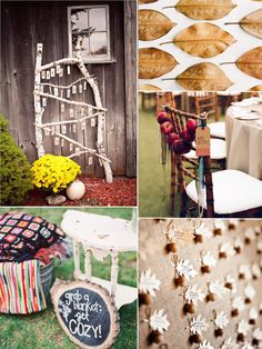 Fall wedding ideas - Autumn Wedding Seating Details and Plans