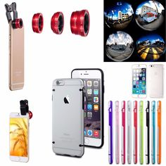 Fish Eye Lens +  Ultra Thin Clear Rubber TPU Crystal Case for iPhone 6  / 6 Plus