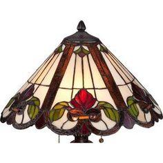 Quoizel Fields Tiffany Style Floral Table Lamp - #3X208 | LampsPlus.com