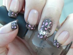 """""""Chocolate Cheetah w/ Bling"""" by Tawnee L.C.  Follow me on Pinterest and facebook.com/NailswithTLC for NEW Designs every week!"""