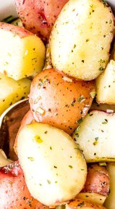 Garlic Ranch Slow Cooker Potatoes