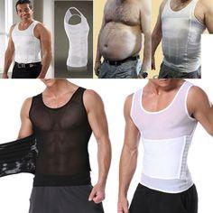 34c916c466f (eBay Sponsored) Men s Slimming Body Shaper Waist Trainer Vest Gym Tops  Belly Compression Shirt