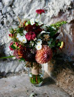 Mayfield Flowers bridemaids wedding bouquet - autumn colours