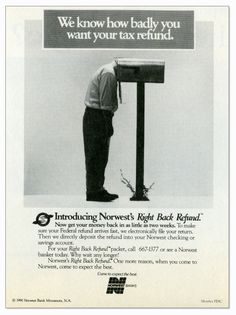 Guided By History Wells Fargo Blog  Right Back Refund Ad, 1990 (Wells Fargo Corporate Archives)