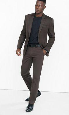 Photographer Brown Cotton Sateen Suit